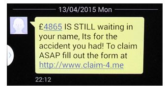Landline text spam
